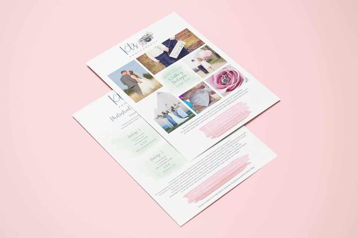 KT's Photography leaflet design