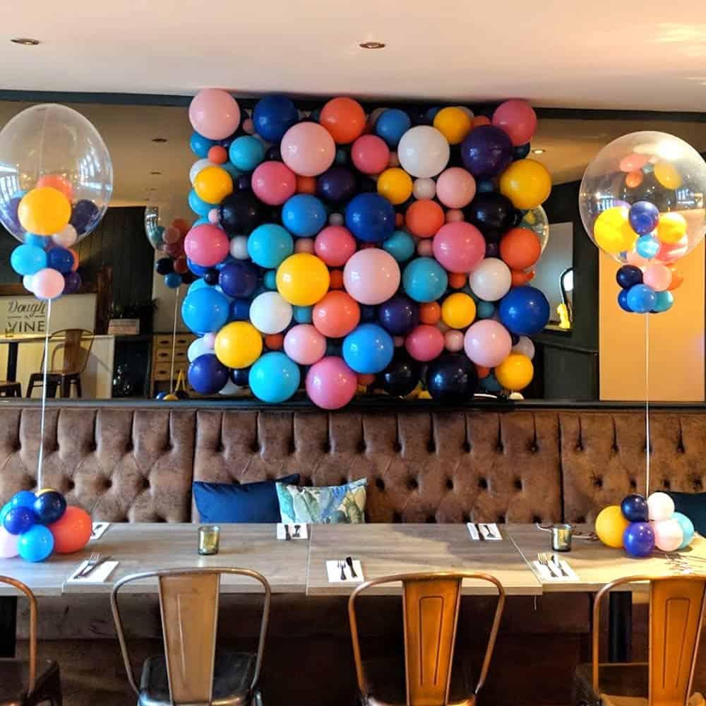 Balloon wall decorations