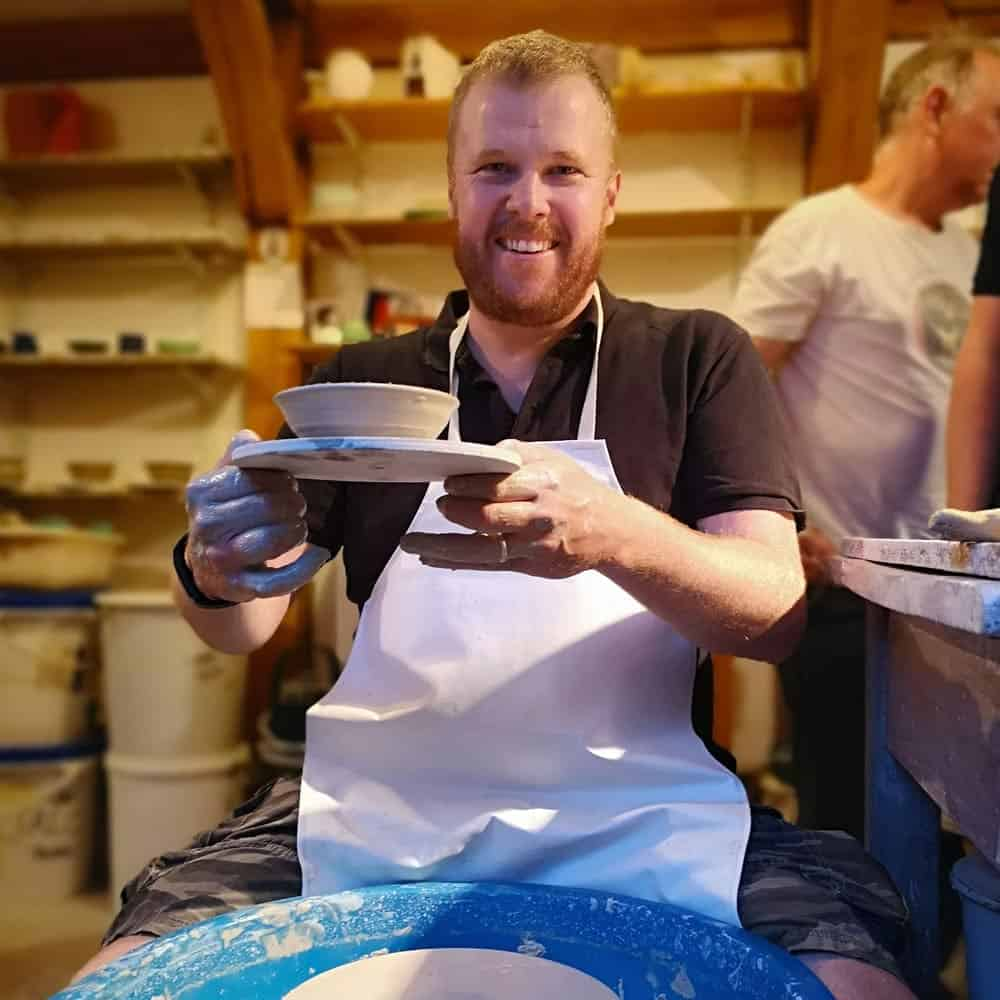 Brackley Round Table pottery