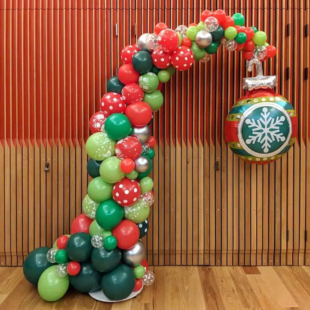 Christmas balloon display