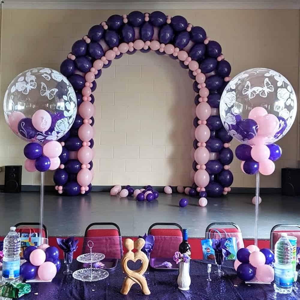 Wedding balloon arches