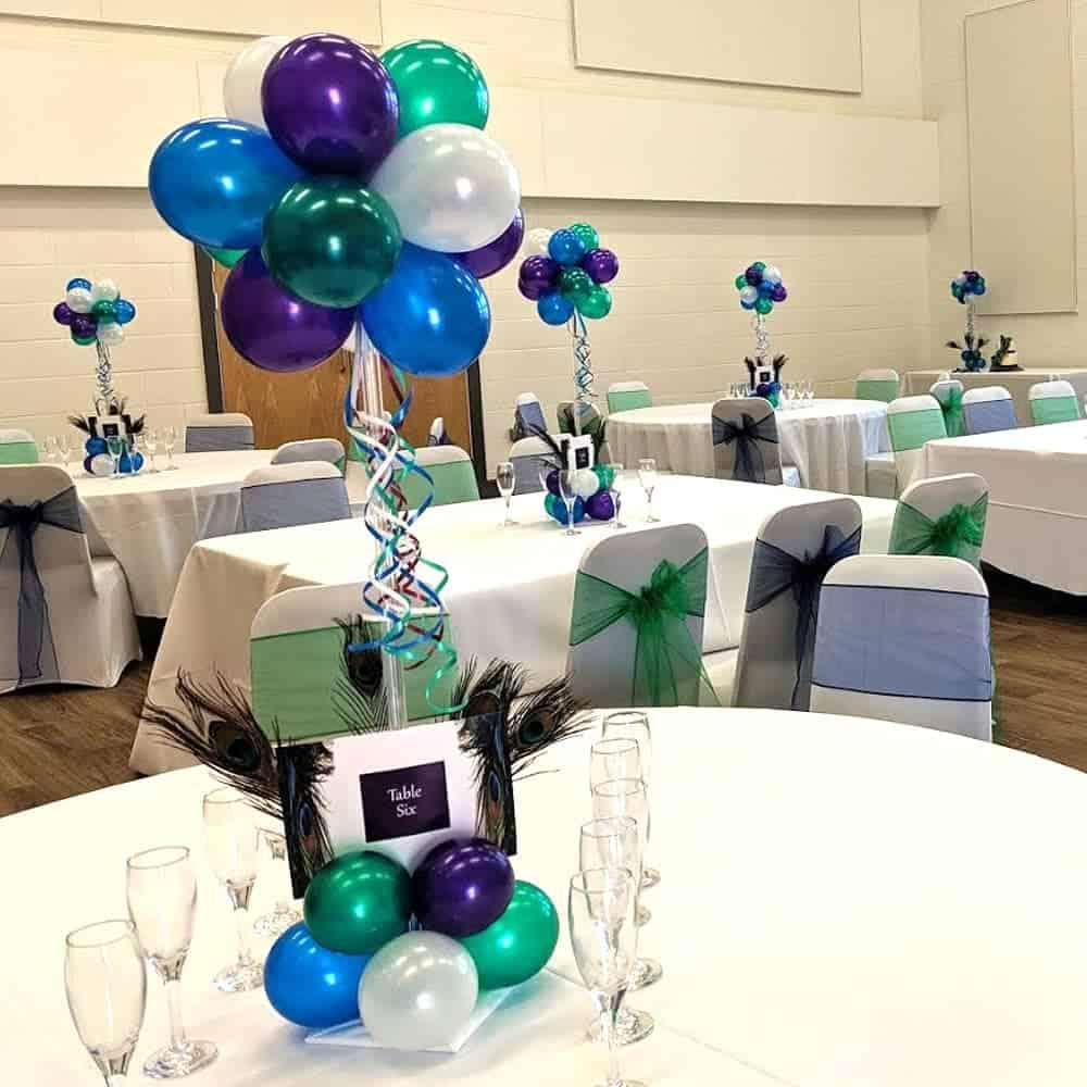 Wedding balloon table centres