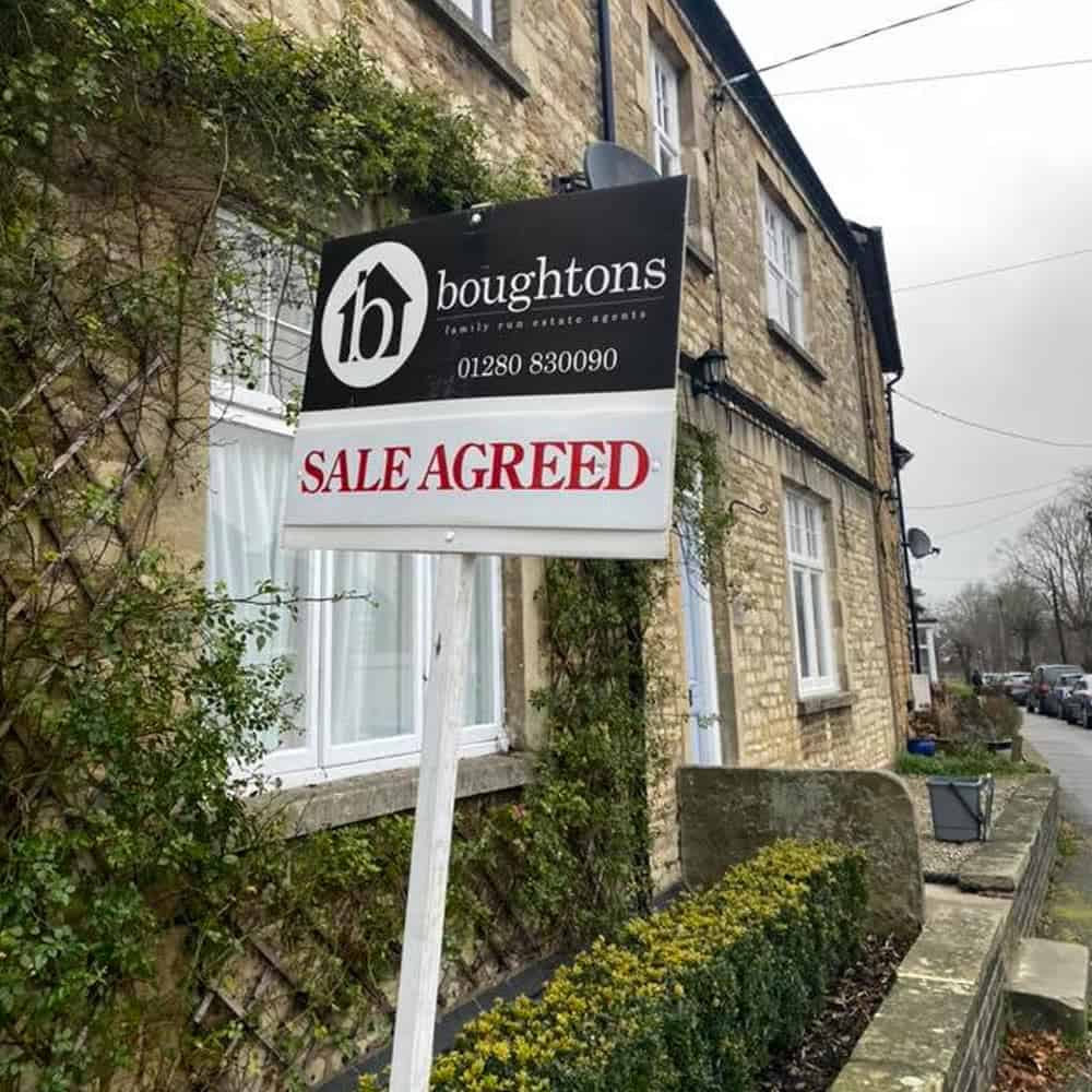 Boughtons for sale sign