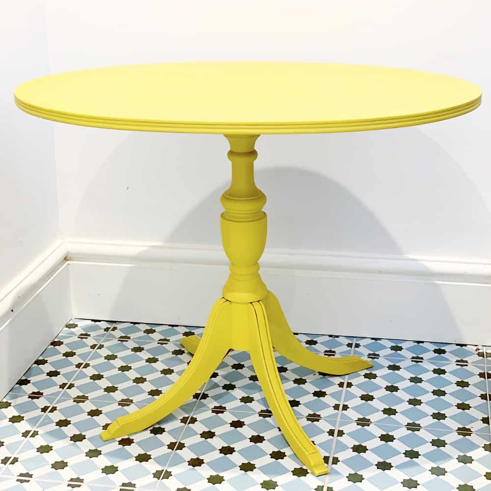 Upcycled Yellow Table Brackley