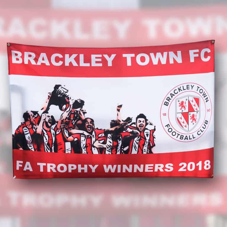 Brackley Town FC Football Flag