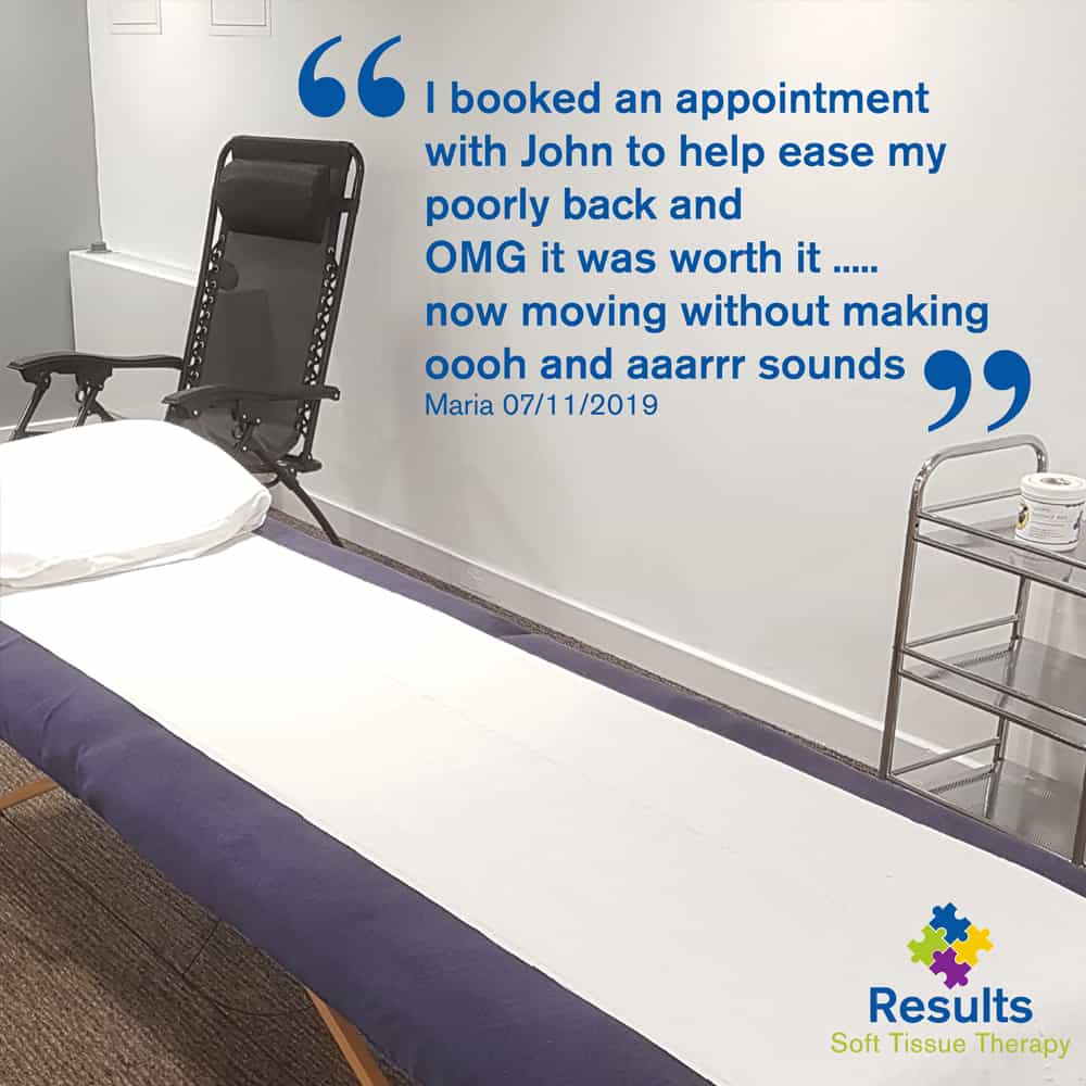 Results Soft Tissue Therapy Testimonial