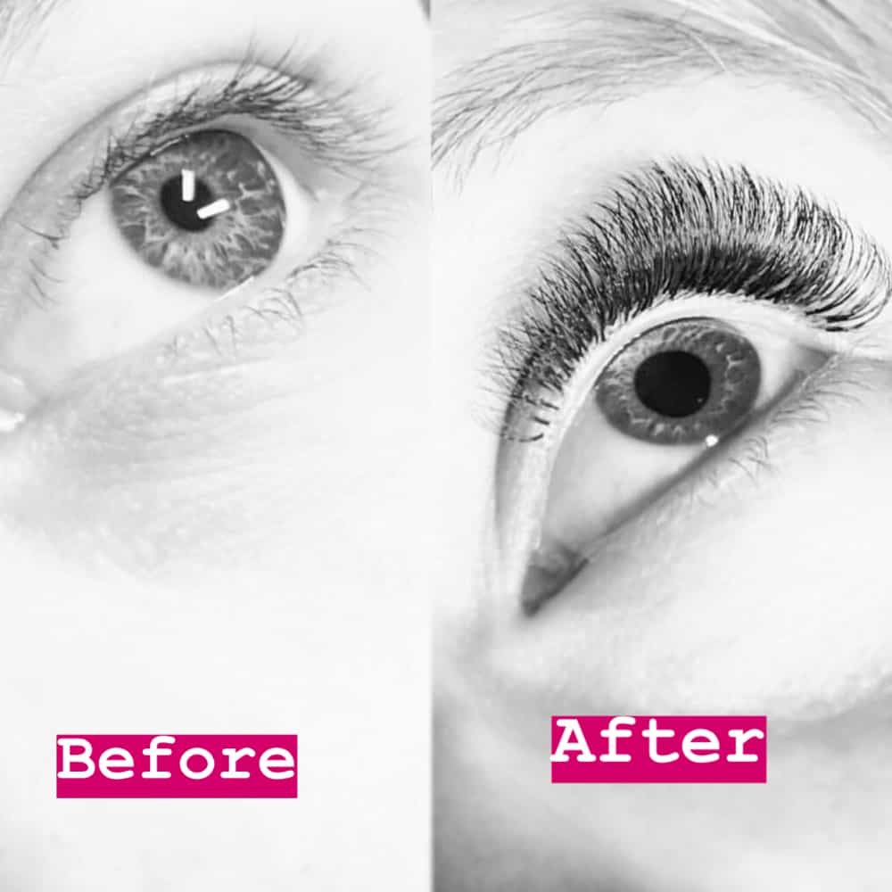 Before After Eyelashes Brackley