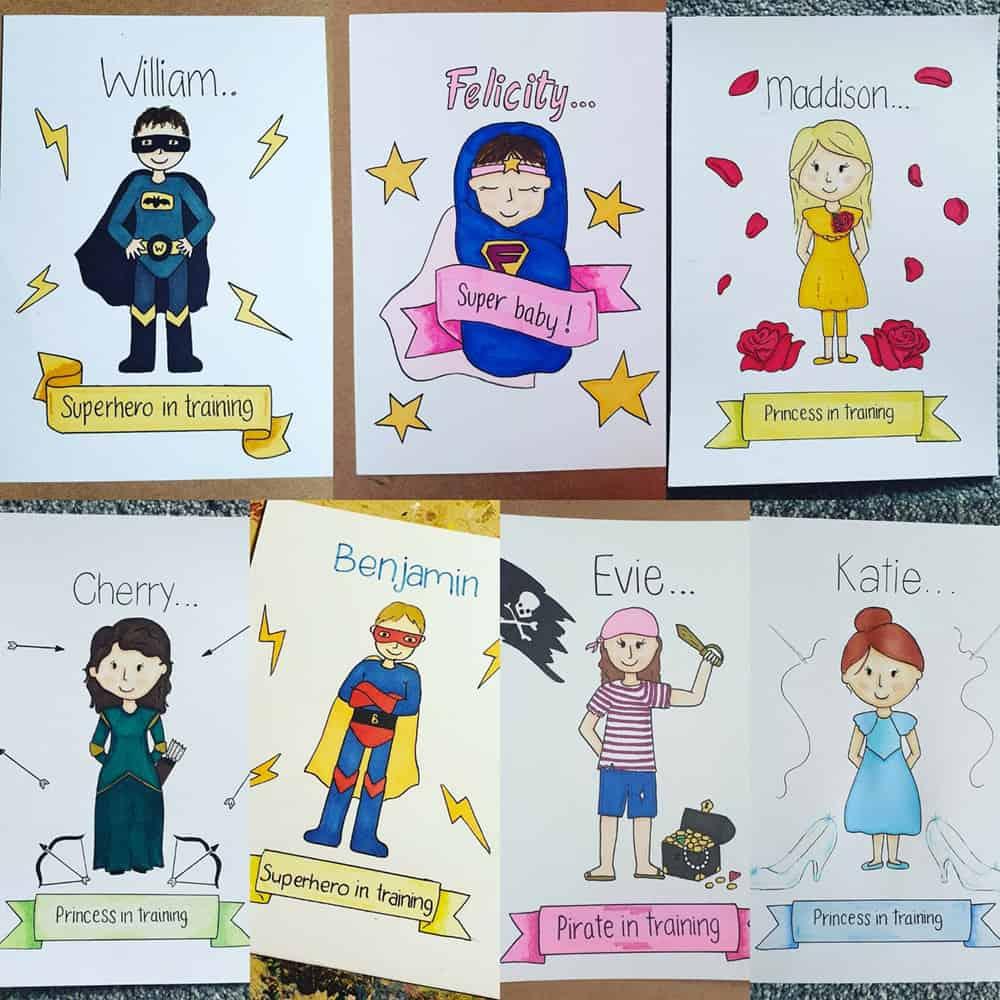 Personalised Childrens Superhero Drawings