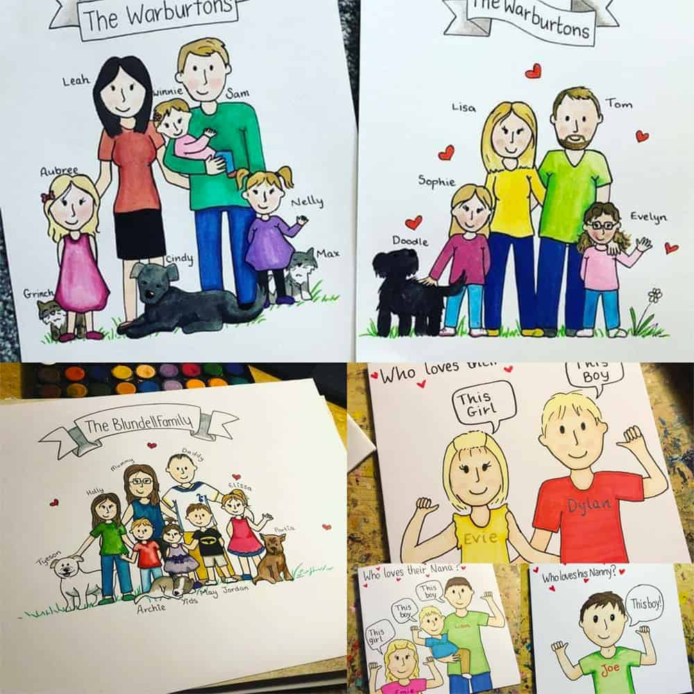 Personalised Family Portraits