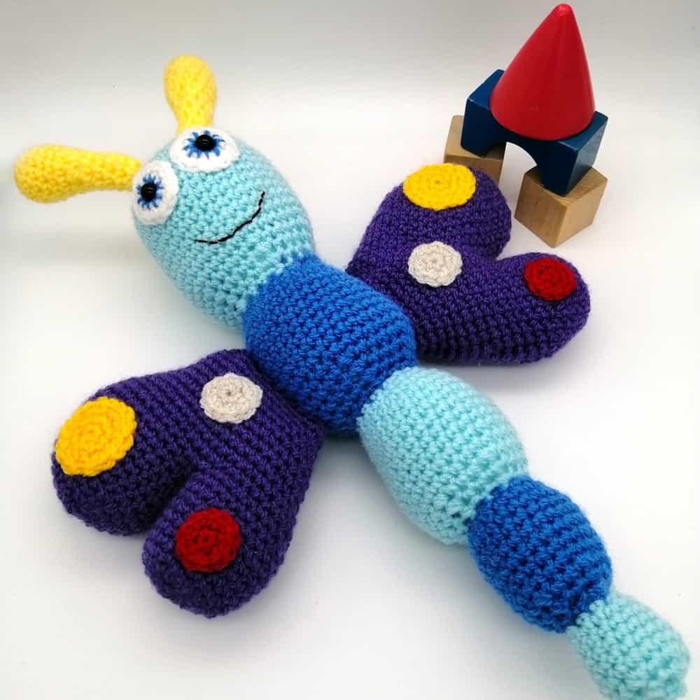Crochet Butterfly Baby Toy