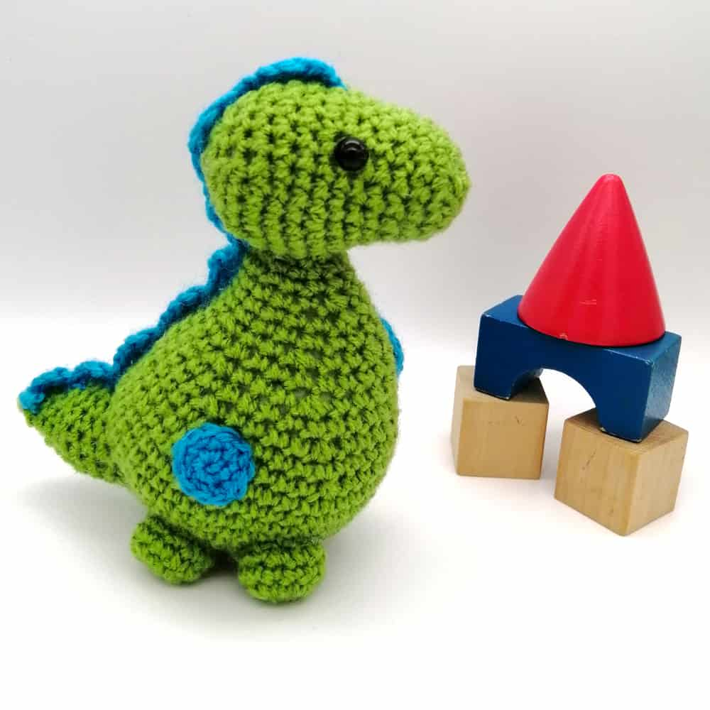 Crochet Dinosaur Baby Toy