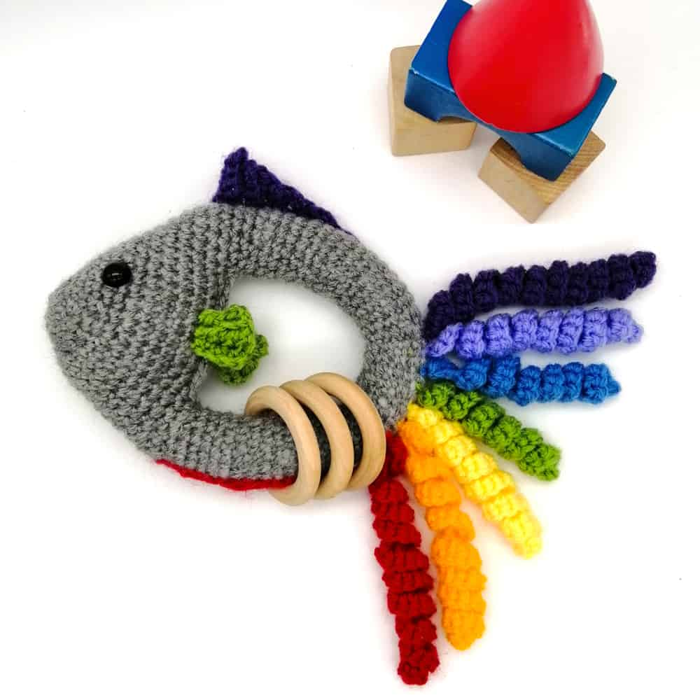 Crochet Fish Baby Toy