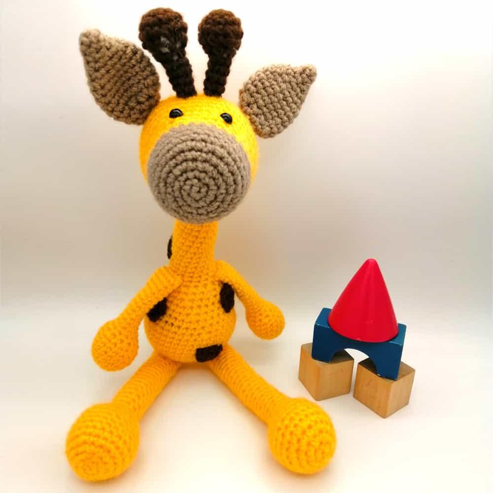 Crochet Giraffe Baby Toy