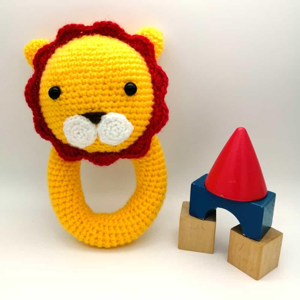 Crochet Lion Baby Toy