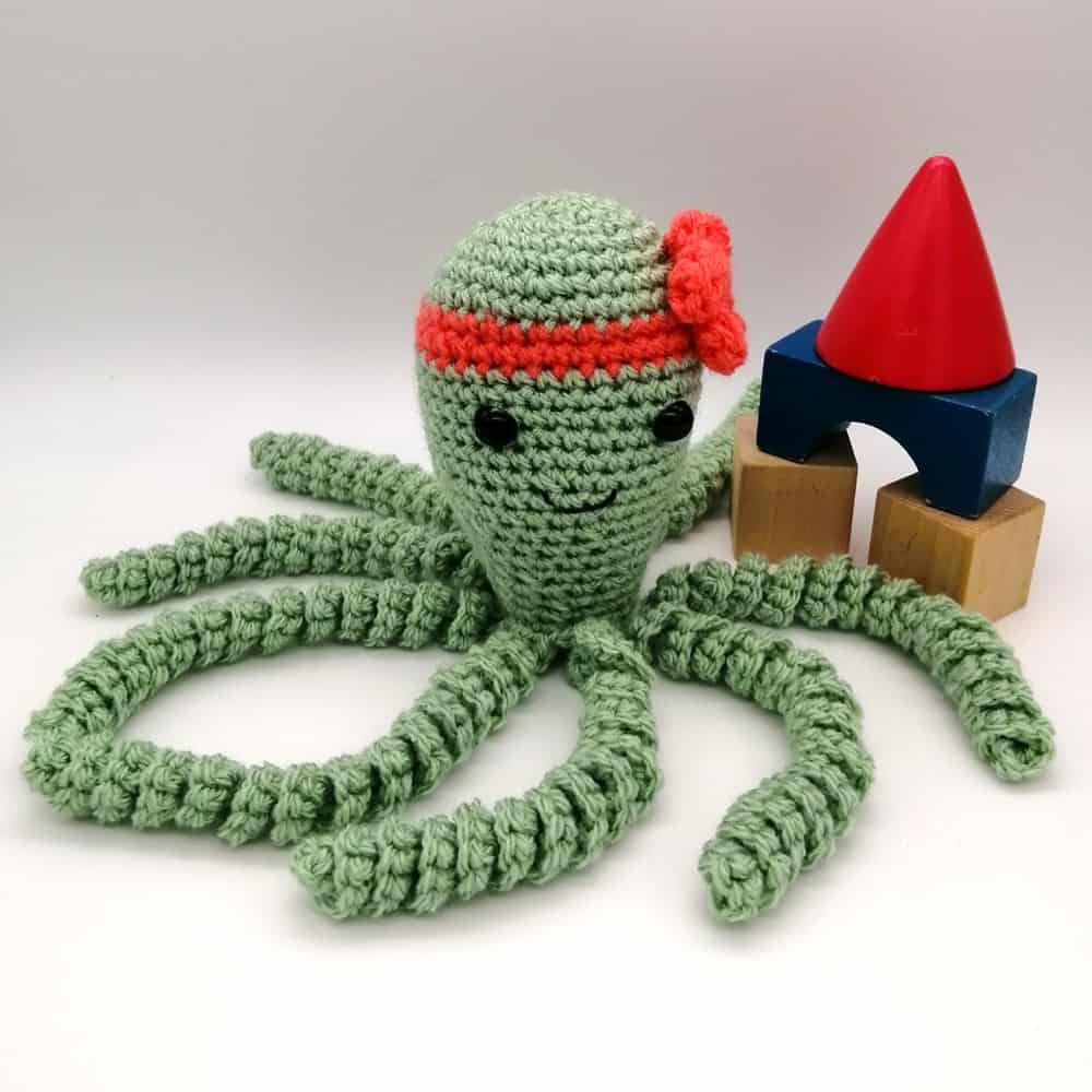 Crochet Octopus Baby Toy