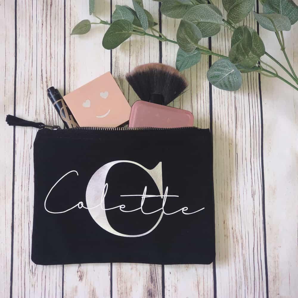 Handmade Personalised Makeup Bag