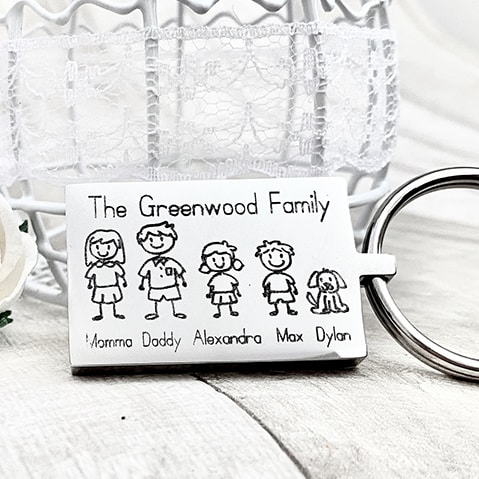 Personalised Stamped Family Jewellery